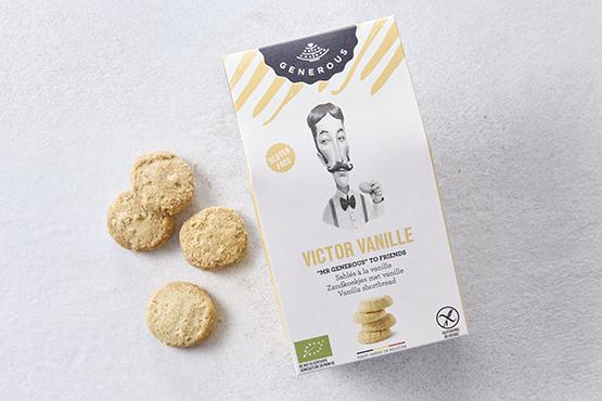 """Bio Sablés à la vanille, """"Victor Vanille"""", sans gluten Generous"""