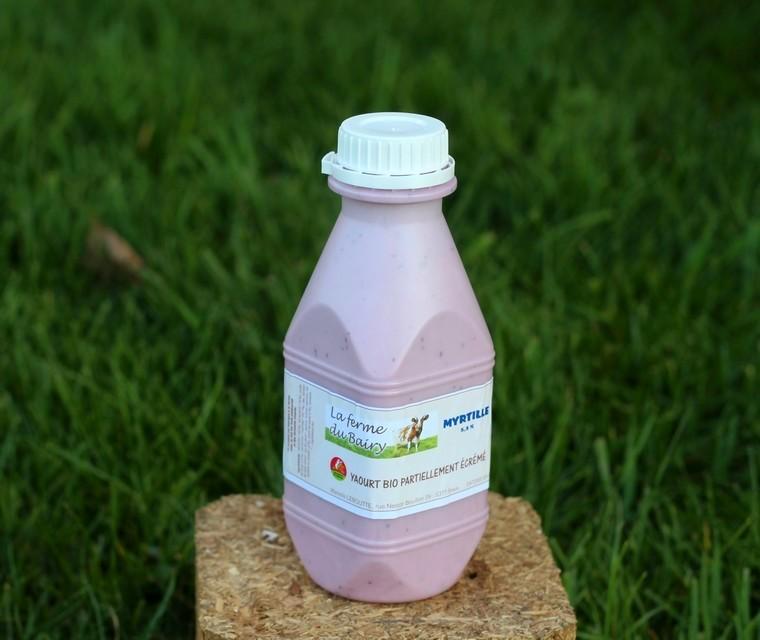 Bio Yaourt à boire myrtilles Ferme du Bairy