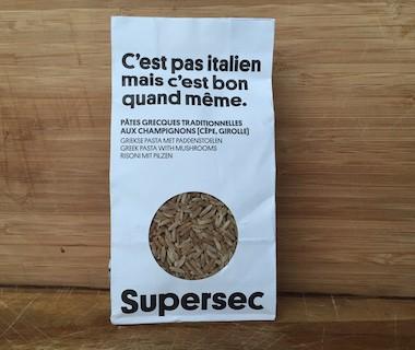Pâtes grecques aux champignons cèpes et girolles Supersec