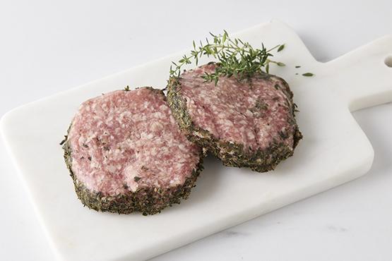 Hamburger 100% pur porc aux herbes de Provence Bart Syryn - De Heerlijkheid
