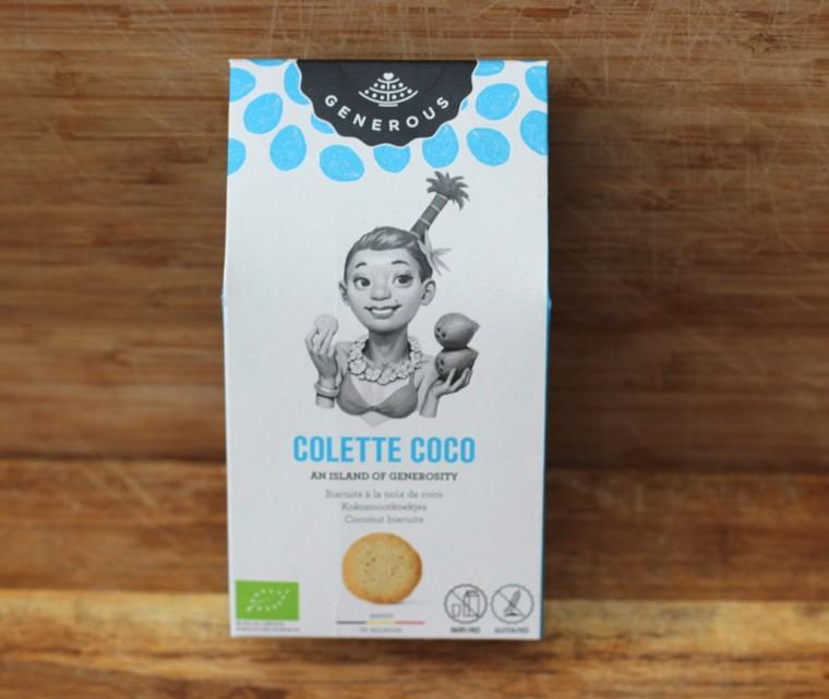 """Bio Biscuit à la noix de coco, """"Colette Coco"""", sans gluten Generous"""