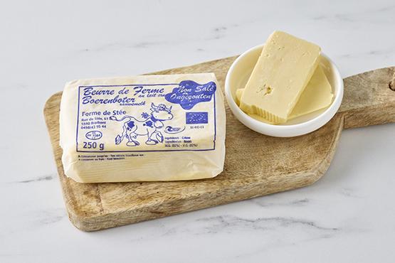 Bio Beurre doux au lait cru La ferme de Stée