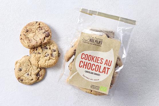 Bio Cookies aux pépites de chocolat Ferme Nos Pilifs