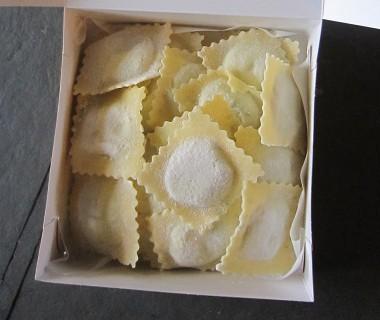 Raviolis artichauts, grana padano et menthe Raviolart